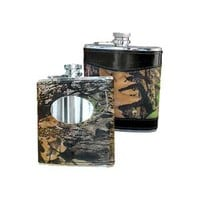 Weber's Camo Leather Flask
