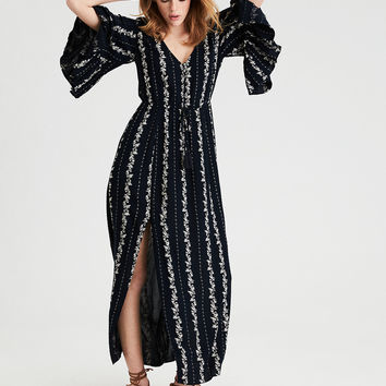 AE Bell Sleeve Maxi Dress, Black