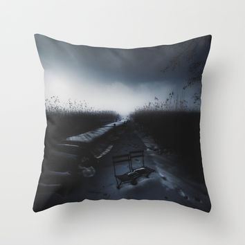 Till death do us part Throw Pillow by HappyMelvin