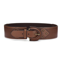 Brown Retro Elastic Waist Belt