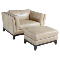Stationary Arm Chair and Ottoman | Wayfair