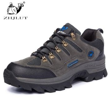 ZHJLUT Shoes Men Women Water-resistant Outdoor Hiking Boots Climbing Walking Trekking Boot Mens Leather Hiking Shoes
