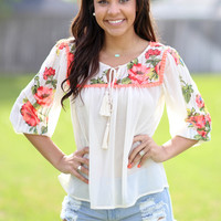 Island Fever Top - Ivory