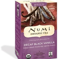 NUMI TEAS TEA BLACK DECAF INDN NGHT VNLA, 16 BG