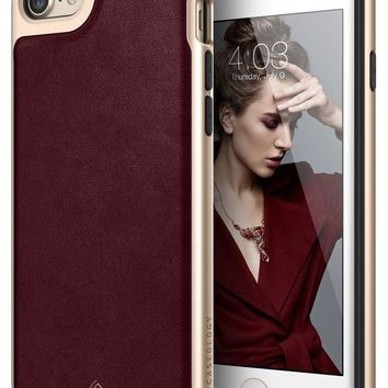 DCCKRQ5 Caseology Envoy Series iPhone 7 / 8 Cover Case with Leather Slim Protective for Apple iPhone 7 (2016) / iPhone 8 (2017) - Leather Cherry Oak