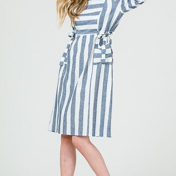 Perfect Striped Tie Dress