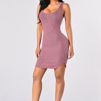 Washed Ashore Dress - Magenta