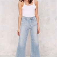 A Gold E June Crop High-Rise Flare Jeans - Light Blue