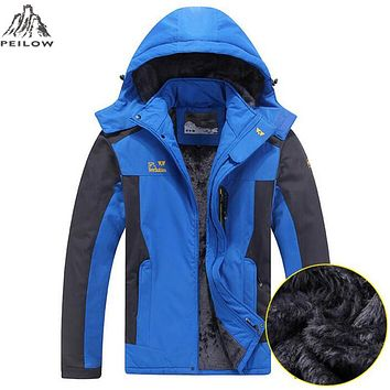 Winter Jacket Men Thick Velvet Warm Coat Thermal Warm Windproof Hood Jackets Mes Outwear Parka