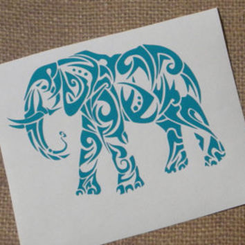 elephant decal, elephant car decal, elephant sticker, elephant