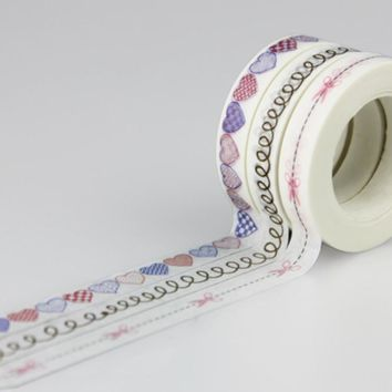 Japanese Washi Tape Vintage Decorative Adhesive Tape Diary Album Sticker Masking Paper Tape