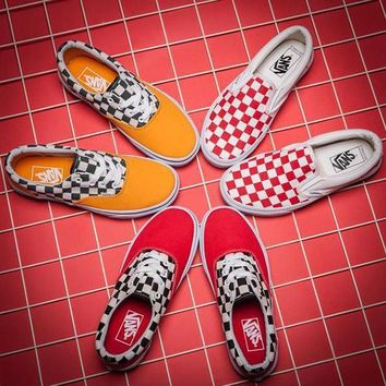 VANS ERA Canvas Old Skool Checkerboard Tartan Sneakers Sport Shoes