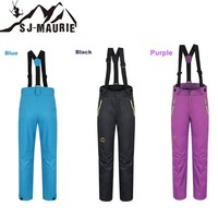 2018 Winter Pants Outdoor Snow Skiing Bib Pants Trousers Detachable Suspenders Clothing Solid Snowboard Pants Snow Pants Women