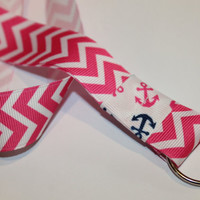 Chevron Ribbon Lanyards with Anchors