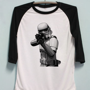 Stormtrooper Shirt Star Wars Tshirt Long Sleeve Unisex Baseball Shirts Raglan Jersey TShirt Black White Tee Men Women S M L