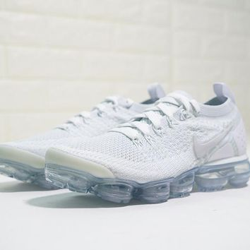 """Nike Air VaporMax Flyknit 2.0 W """"2.0 Ice White"""" Running Shoes Sneaker 942842-105"""