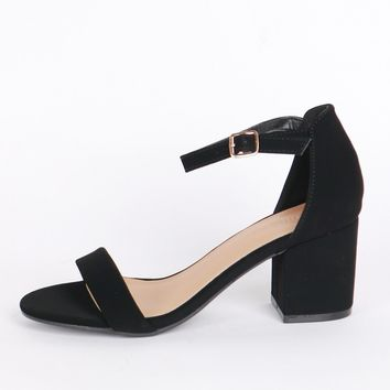 Crosswalk Heel Black