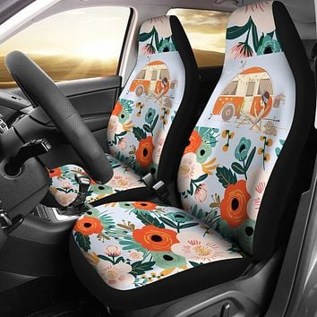 Happy Camper Car Seat Covers