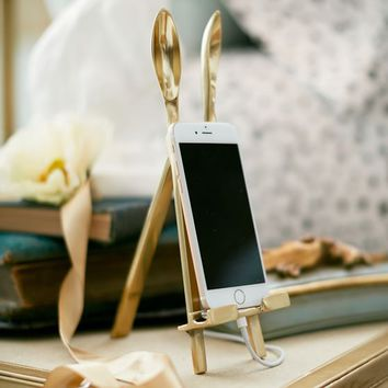 The Emily & Meritt Bunny Ear Easel Phone Holder
