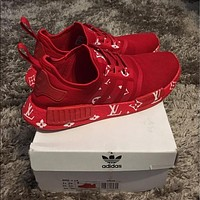 Adidas x LV NMD Woman Fashion Running Sneakers Sport Shoes
