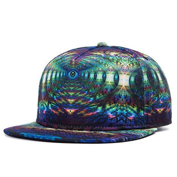 Optical Illusion Snapback Hat