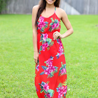 Into the Tropics Maxi - Red