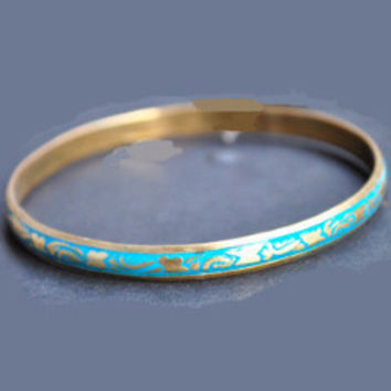 Fair Trade Dainty Brass Bangle