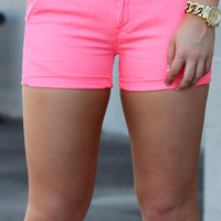 Ibiza Short Trouser {Bright Coral} by DEX Jeans