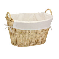 Household Essentials Willow Laundry Basket with Cotton Liner