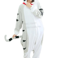 New Kawaii Cartoon Cat Adult Animal Winter Kigurumi Fleece Onesuit KK862