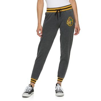Juniors' Harry Potter Hogwarts Crest Graphic Jogger Pants