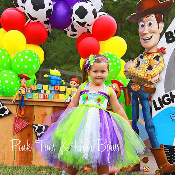 Buzz Lightyear Dress- Buzz Lightyear Tutu Dress- Buzz lightyear tutu- Buzz Lightyear Birthday Dress
