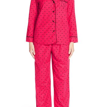 Betsey Johnson Print Flannel Pajamas | Nordstrom