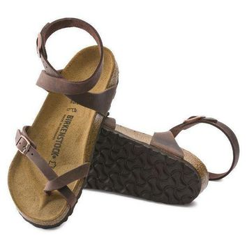 DCCK1 Birkenstock Yara Oiled Leather Habana 13391 Sandals
