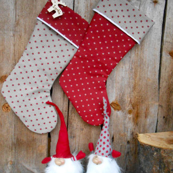 Personalized Stocking Christmas Decor Holiday Decor Stocking Christmas Gift  Christmas Ornament Scandinavian