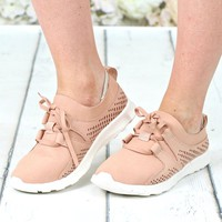 Not Rated: Marie Perforated Memory Foam Sneakers {Nude Blush}