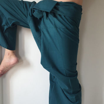 Dark AQUA - Thai Fisherman Pants - 100% Cotton