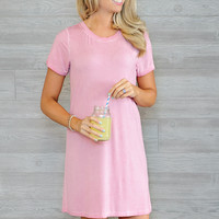 * Aada T-Shirt Dress  - Washed out Pink