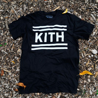 KITH Flag Tee - Black | Apparel | Kith NYC