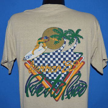 80s Puerto Rico Summer 1989 Sunset t-shirt Medium