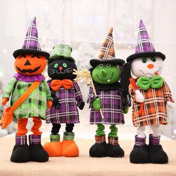 New Halloween Decoration Children's Gift Doll Fancy Ghost Pumpkin Witch Dolls Ornaments Halloween Decoration Party Supplies