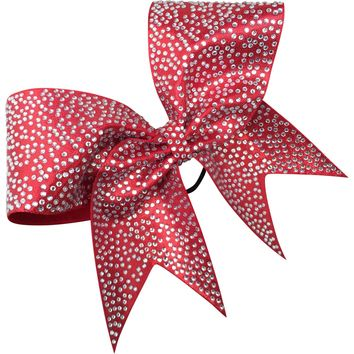 Full rhinestones bow with scattered pattern.