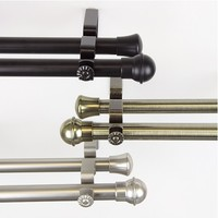 Adjustable Double Curtain Rod | Valance and Curtain Rod Set