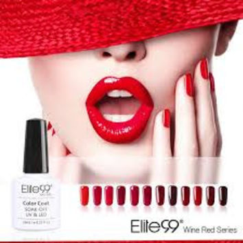 Elite99 10 ml 12 colors Red Wine Series 84 colors selection 1 Varnish Nail Gel UV Gel Nail Polish LED UV Gel Nail Art Manicure