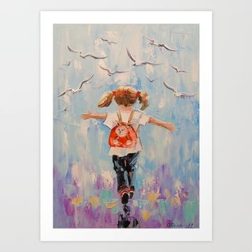 Childhood Art Print by OLHADARCHUK