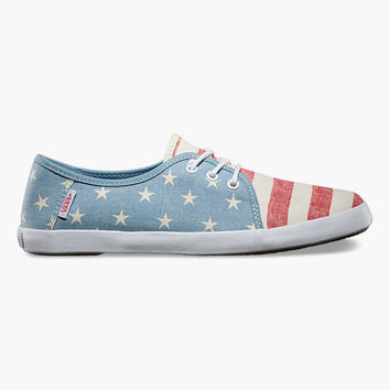 Vans Tazie Womens Shoes American Red/White/Forget Me Not  In Sizes