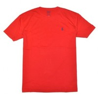 Polo Ralph Lauren Men Pony Logo T-Shirt (Large, Red)