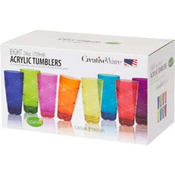 Walmart: Circus 24-Ounce Multi-Colored Tumbler Set, Set of 8