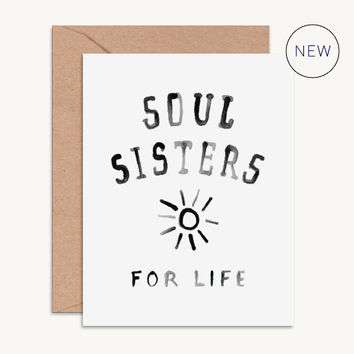 Soul Sisters for Life Bridesmaid Card