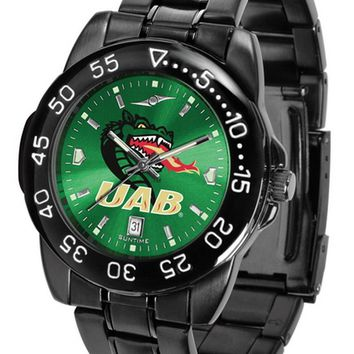 Alabama Blazers Mens Fantom Watch Gunmetal Green Dial Anochrome